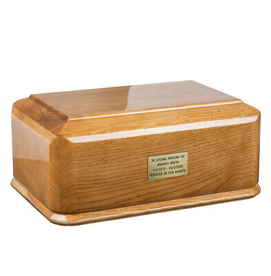 Beautiful Solid Wood Caske Funeral Ashes Urn For Adult. Cremation Urn (Wu49)