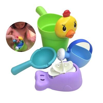 Baby Bath Shower Toy Set Kids Water Scoop Chick Water Cup Sprinkling Can Toys