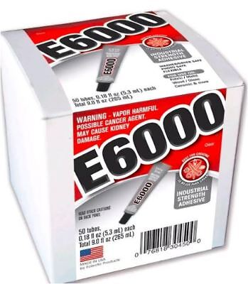 15 Tubes E6000 Clear Glue For Rhinestones Adhesive Strong Fabric Phone Parts Glu