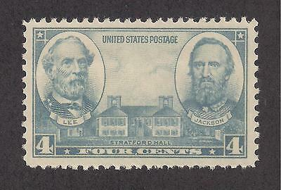 1936 - Robert E Lee & Stonewall Jackson - Confederate Generals - U.s. Mint Stamp