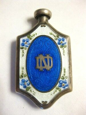 1920s-1940s NOTRE DAME UNIVERSITY STERLING PERFUME BOTTLE