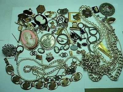 lot of vintage jewelry- findings- old stuff in drawer