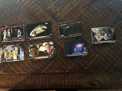 2018 Topps Star Wars Galactic Files Complete 7 Insert Sets