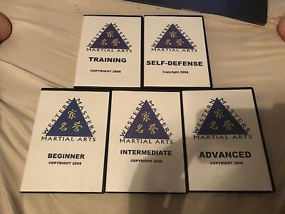 Western Masters Martial Arts Training DVDs, 5 Volumes, 2008 Edition