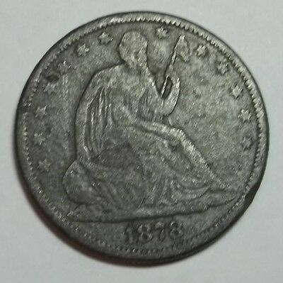 1878 Seated Liberty Half Dollar... Contemporary Counterfeit ~ Nice Example