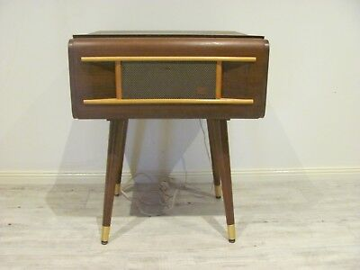 Retro side table / radiogram his masters voice