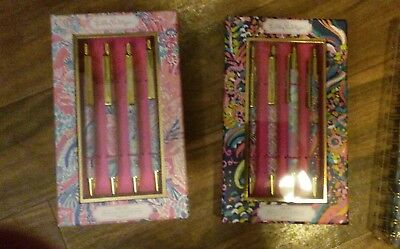 Lilly Pulitzer Nwt 2 Boxes Of Assorted Pens Four In Each Box Eight Total