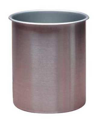 ZORO SELECT 78780 Rolled Beaker,8-1/4 qt.,Stainless Steel