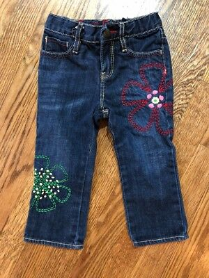 Baby Gap Embroidered Jeans 2T EUC