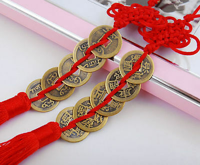 2 Feng Shui Chinese Coins Coin for good Luck PROSPERITY PROTECTION Charm