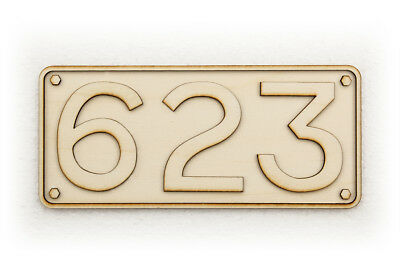 South Australian Railways Rectangular Steam Locomotive Number Plate (125mm)