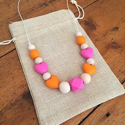 Silicone Little Girl's/Toddler Necklace, Sensory, Natural Chemical Free, Quality