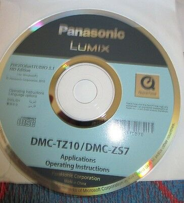 Disc for Panasonic Lumix Camera (Applications & Operating Instructions)