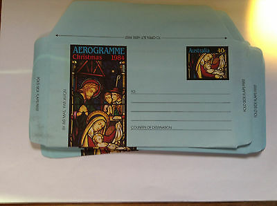 Australian Aerogram qty 10 x 40c Unused Christmas 1984