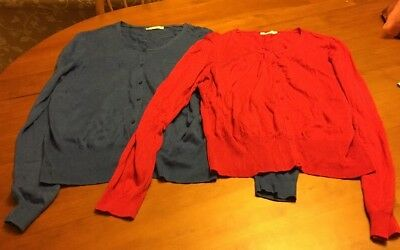 2 x Target Ladies Cardigans Size Large - Same Cardi In Red And Blue