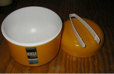 DECOR ICICLE  INSULATED ICE BUCKET & TONGS TONY WOLFENDEN AUS. 1970s LABELLED