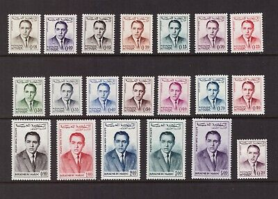 Morocco 1962 Royalty King Hassan II  set mint hinged stamps