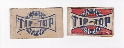 """Two different Vintage  Australian """"TIP-TOP' match box covers."""