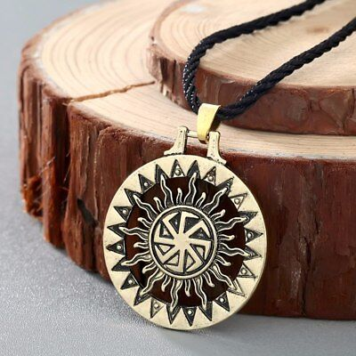 Good Luck Slavic Sun Wheel Kolovrat Necklace Pendant Amulet Talisman Celtic Rune
