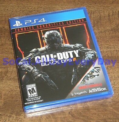Call of Duty Black Ops III 3 ZOMBIES CHRONICLES Edition (PS4) BRAND NEW! CoD BO3