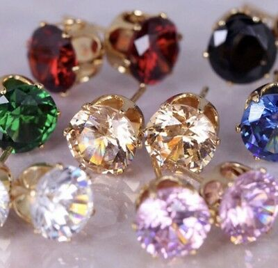 10 x Pairs Of Mixed Colour Earrings Wholesale Joblot Car Boot Jewellery A