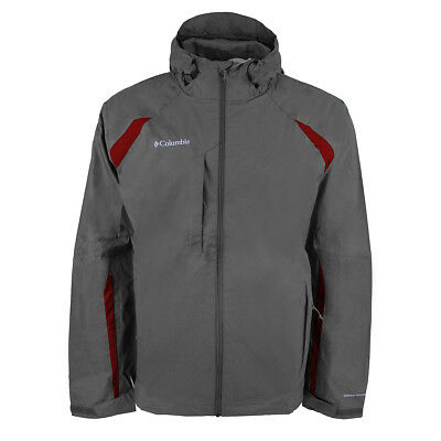 Columbia Men's High Falls Jacket Charcoal/Barn Red S