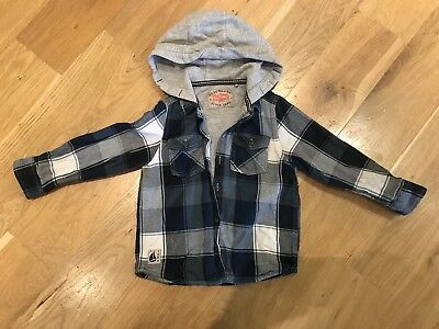 Next Thick Hooded Check Lined Shirt 2-3 Toddler Boy