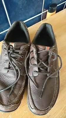 Mens brown M and S waterproof shoes size 10and a half