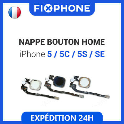 Nappe Flex On/Off Accueil Bouton Home Iphone Se 5S 5C 5 Noir Blanc Or Gold