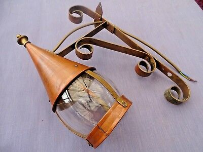 Vintage copper & brass Arts and Crafts style Outdoor Lantern Lamp Light