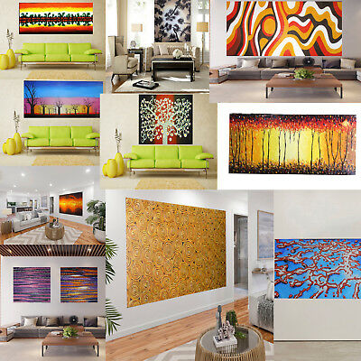 Original Art Painting Australia Aboriginal Landscape Abstract poster  Print