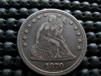 1870-p Seated Quarter