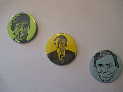 John Kerry 1984 MASSACHUSETTS Primary 3 PINS KERRY BARTLEY SHANNON