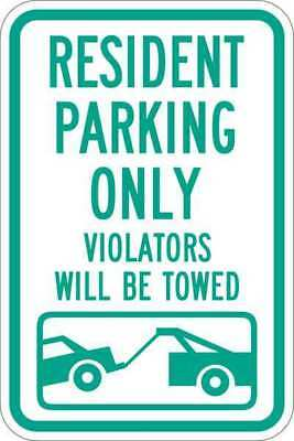 Sign,Resident Parking Only,18 x12 In LYLE T1-1034-HI_12x18