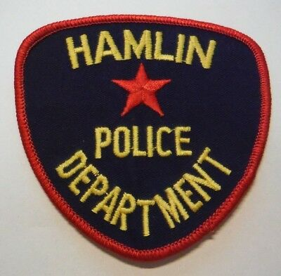 Hamlin Texas Police Patch Unused