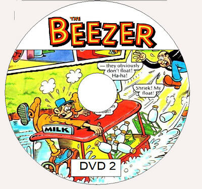 Beezer Comics & Annuals UK ON Three DVD ROMS's
