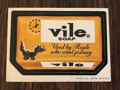 Vintage Topps 1970's Wacky Packages Sticker - Vile Soap - 2nd Edition