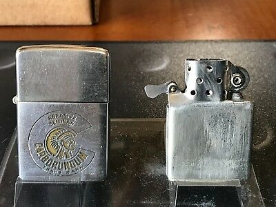 "ZIPPO lighter Vintage 1958 Advertising ""CARBORUNDUM"" with engraved signature"