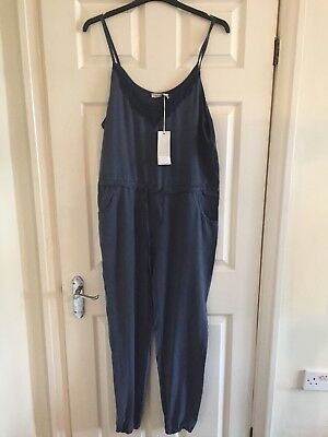 Via Signoria Navy Jumpsuit Xl 16 Trendy