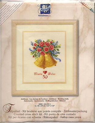 "BNIP: Vervaco Counted Cross Stitch Kit - ""Wedding Bells"" (2002/45159)"