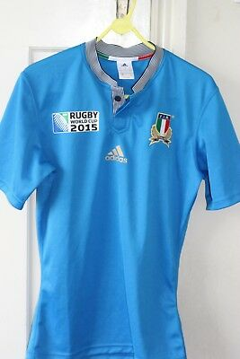Adidas Italy Rugby World Cup 2015 shirt - UK Size S - Never worn