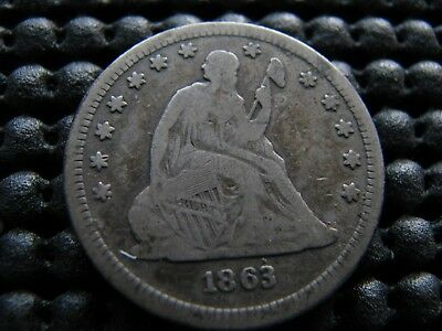 1863 Seated Quarter