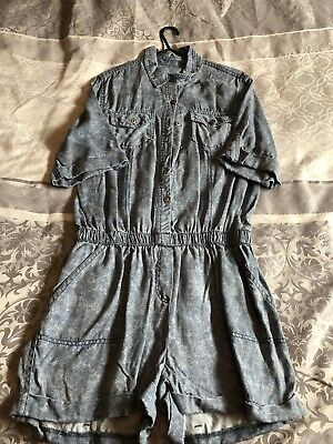 denim jumpsuit size 10