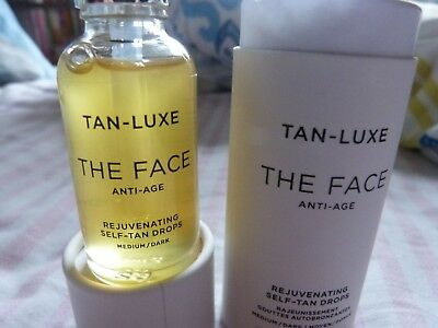 BNIP - Tan Luxe The Face - antiaging self tan 30ml - med - dark.