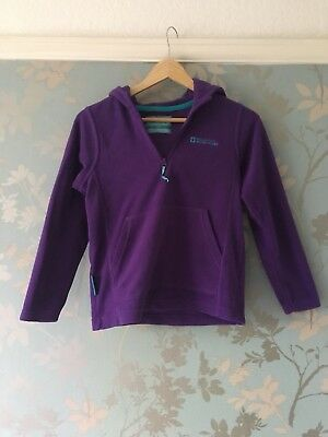 Girls Mountain Warehouse Fleece Hoodie Purple Aged 9-10