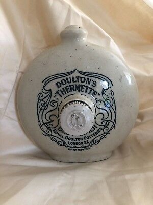 "Royal Doulton's 'Thermette"" Hot Water Bottle Bed Warmer Stoneware c.1900"