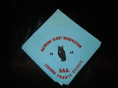 Boy Scout Neckerchief Bashore Camp Lebanon County Pa 1968