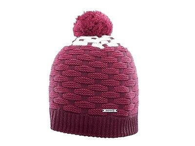 Berretto Unisex Salomon Inverno 396834  Poly Beanie Fig/beet Red/white