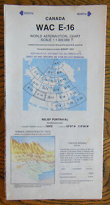 World Aeronautical Chart, Wac E-16, Southwest Canada, Scale: 1:1,000,000, 1974
