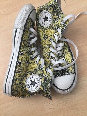 Unisex Yellow Multi Coloured Converse U.K. Size 7 EUR 40